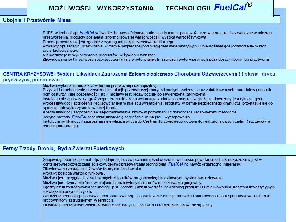 MOŻLIWOŚCI WYKORZYSTANIA TECHNOLOGII FuelCal®