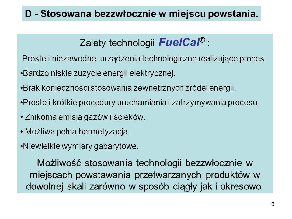 Zalety technologii FuelCal® :