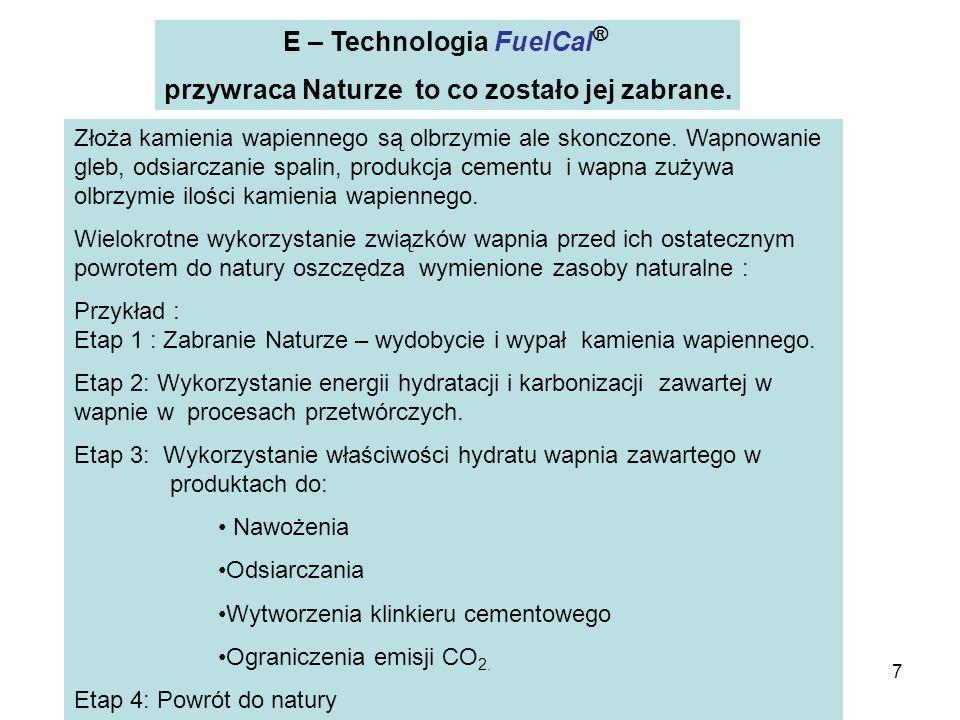 E – Technologia FuelCal® przywraca Naturze to co zostało jej zabrane.
