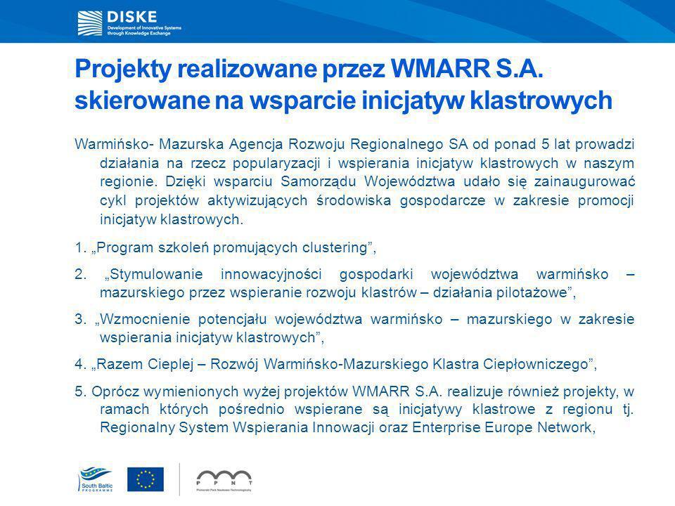 Projekty realizowane przez WMARR S. A