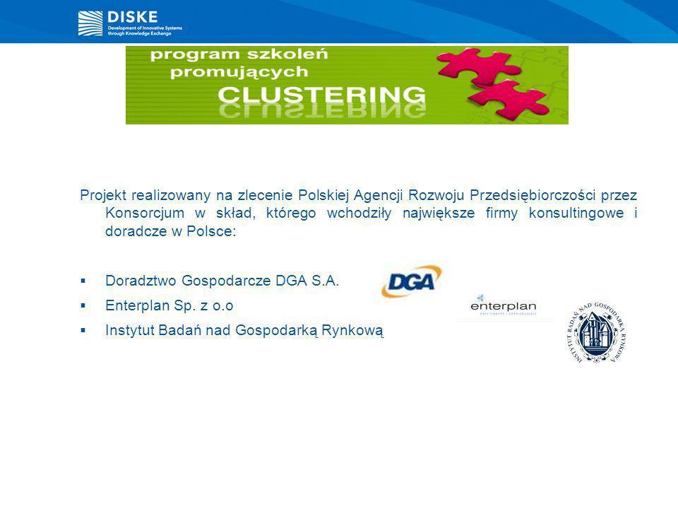 Projekt realizowany na zlecenie Polskiej Agencji Rozwoju Przedsiębiorczości przez Konsorcjum w skład, którego wchodziły największe firmy konsultingowe i doradcze w Polsce:
