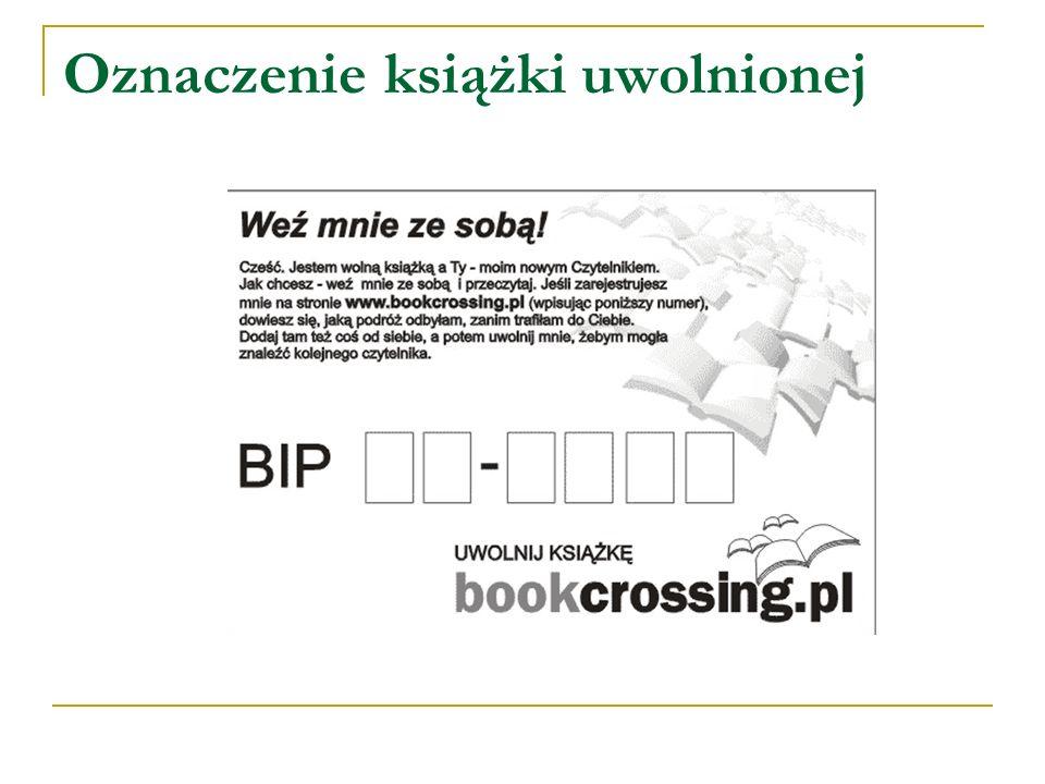 Oznaczenie książki uwolnionej