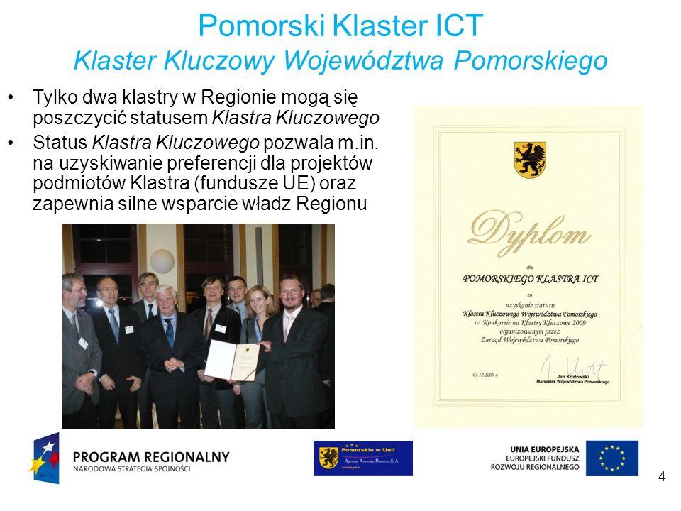 Pomorski Klaster ICT Klaster Kluczowy Województwa Pomorskiego