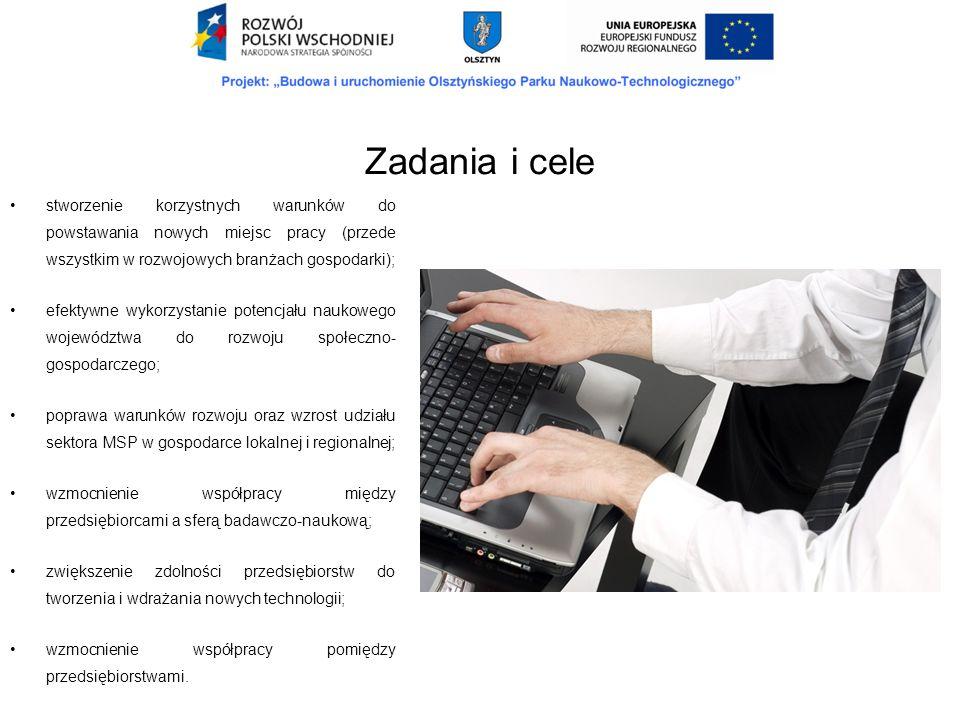 Zadania i cele stworzenie korzystnych warunków do powstawania nowych miejsc pracy (przede wszystkim w rozwojowych branżach gospodarki);