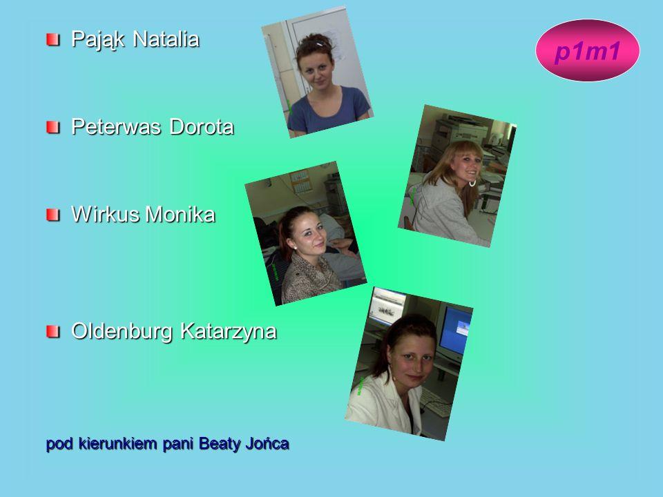 p1m1 Pająk Natalia Peterwas Dorota Wirkus Monika Oldenburg Katarzyna