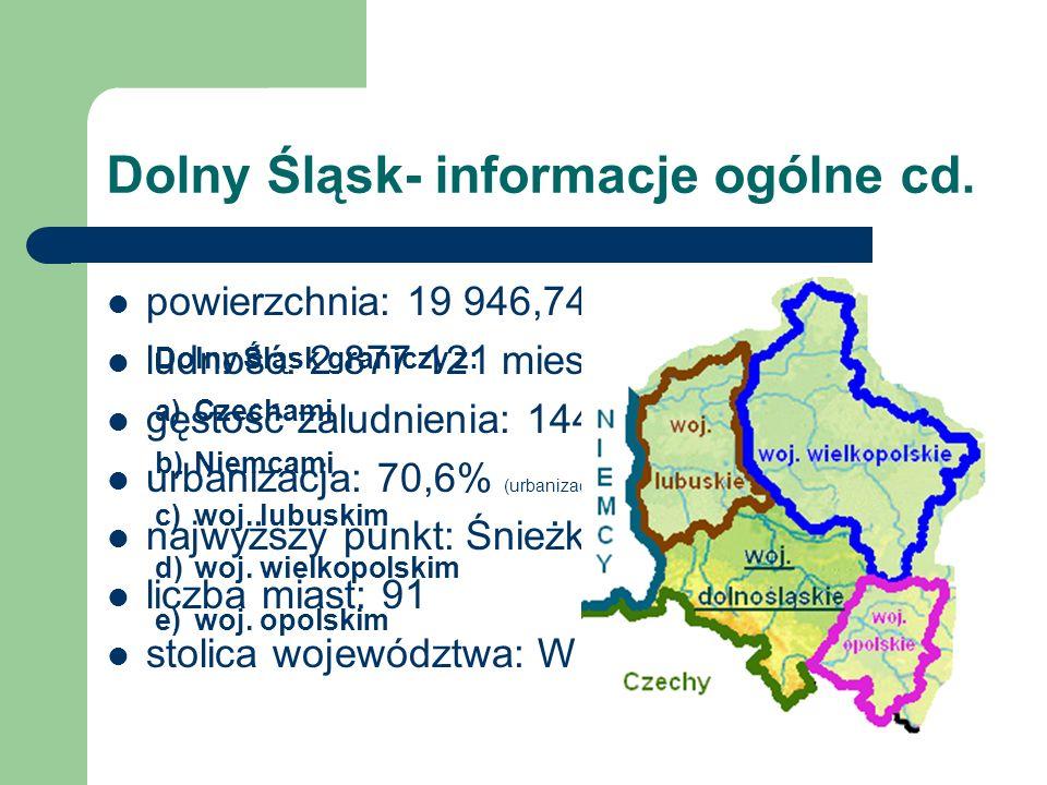 Dolny Śląsk- informacje ogólne cd.