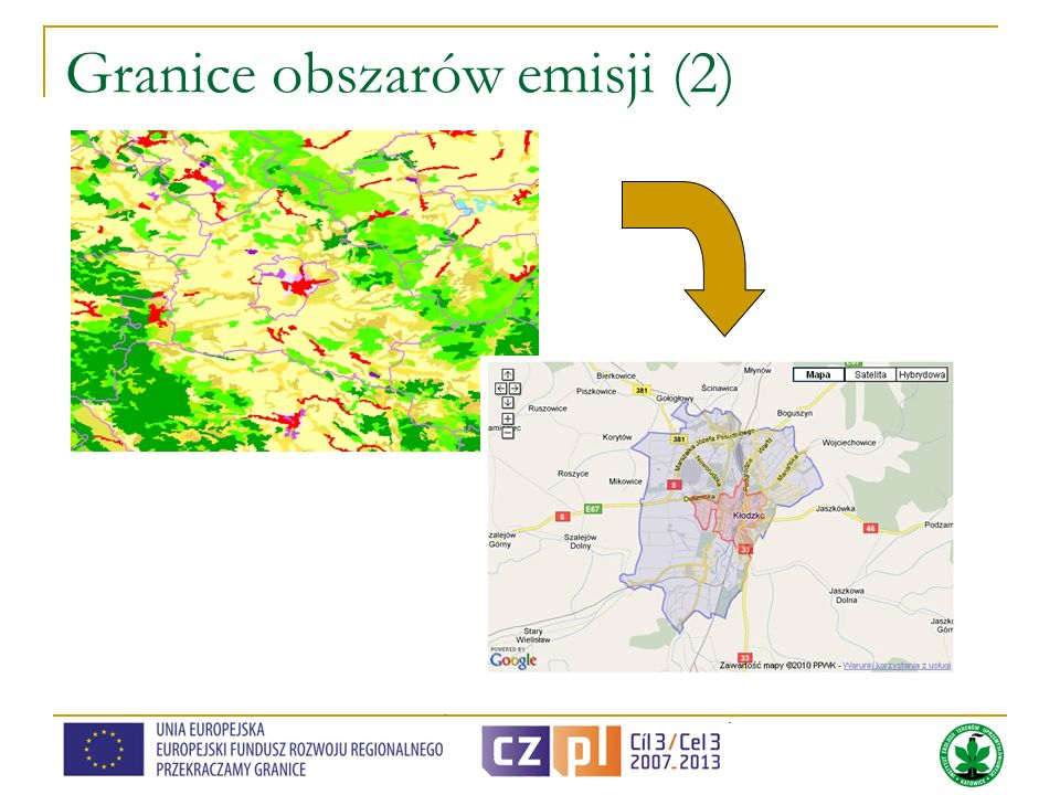 Granice obszarów emisji (2)