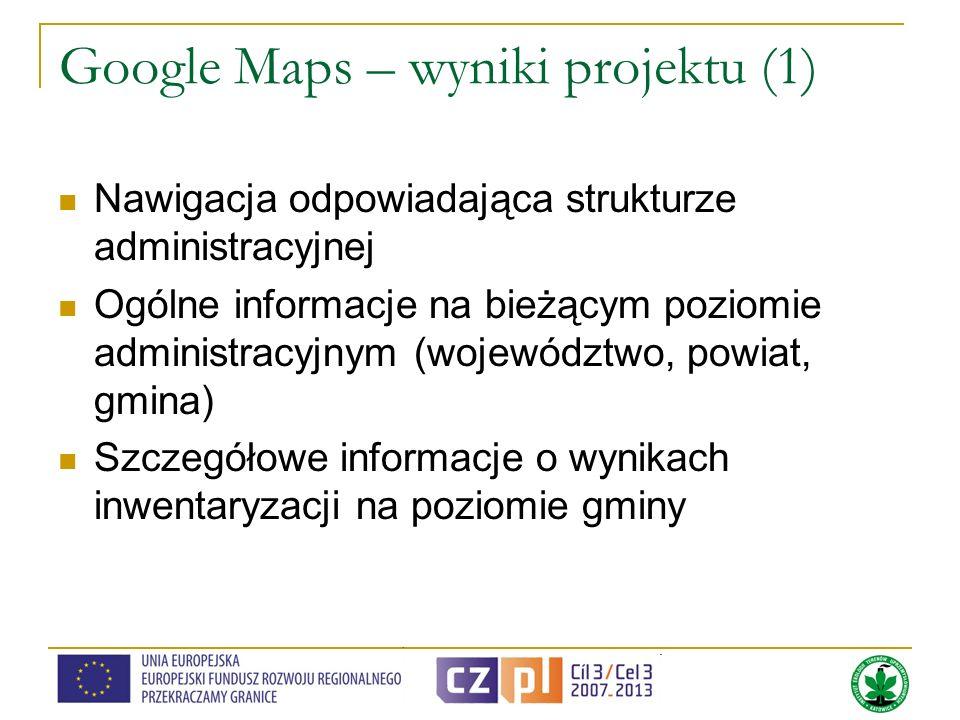 Google Maps – wyniki projektu (1)