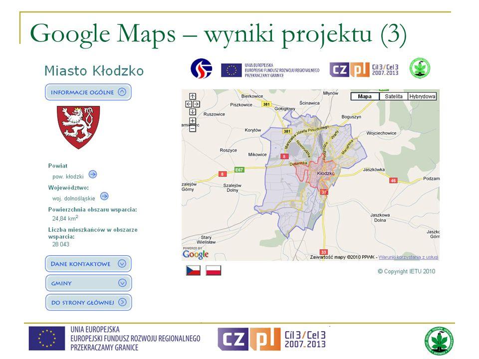 Google Maps – wyniki projektu (3)