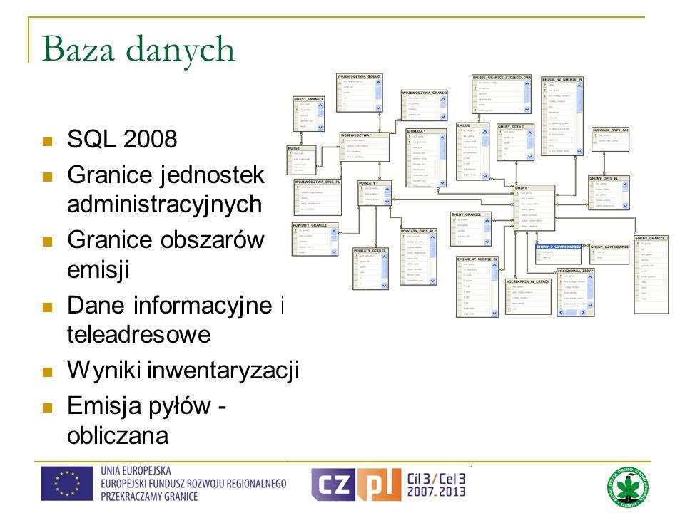 Baza danych SQL 2008 Granice jednostek administracyjnych