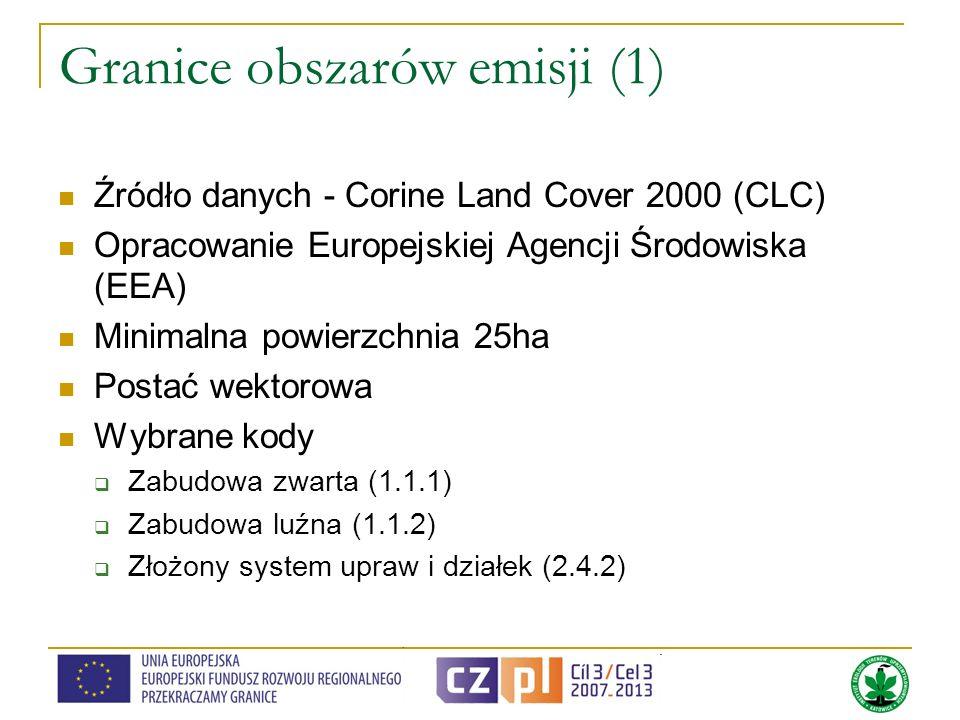 Granice obszarów emisji (1)