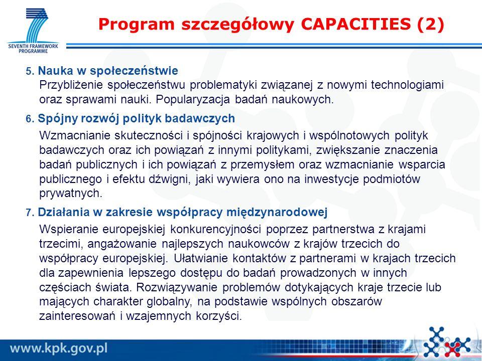 Program szczegółowy CAPACITIES (2)