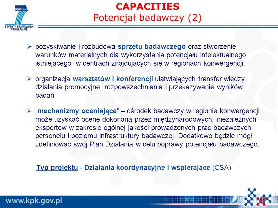 CAPACITIES Potencjał badawczy (2)