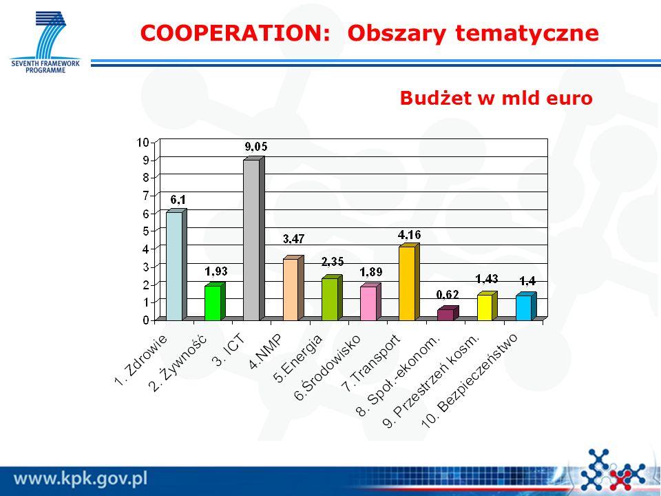COOPERATION: Obszary tematyczne
