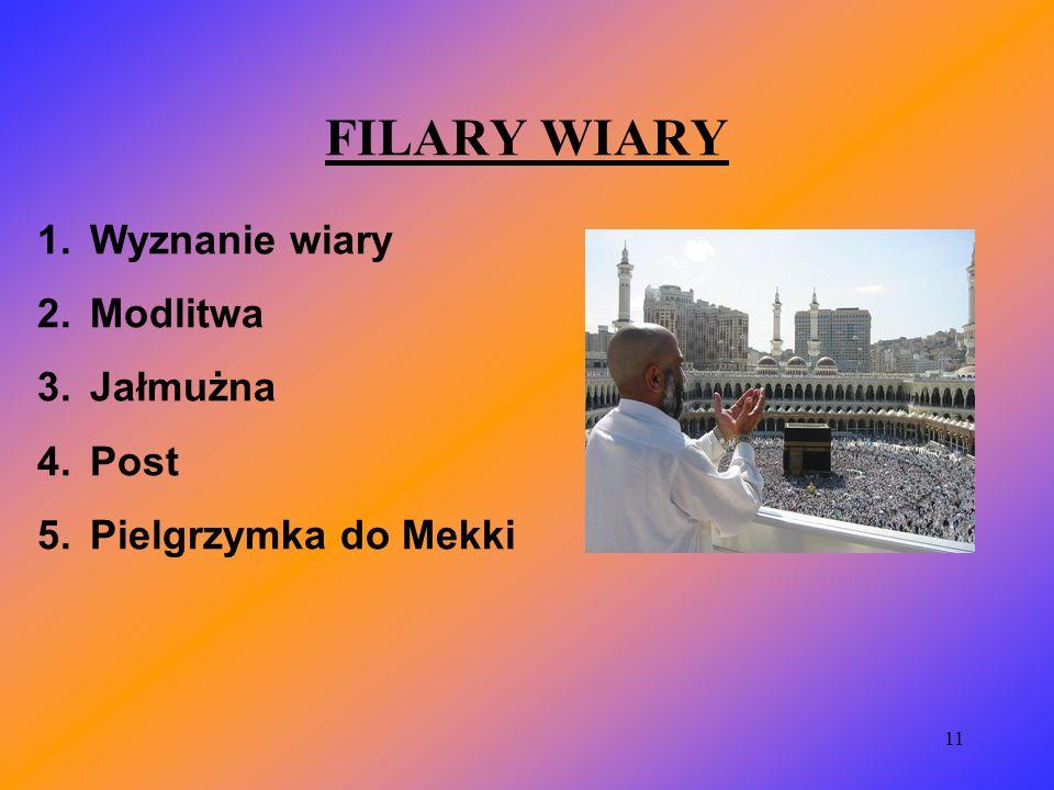 FILARY WIARY Wyznanie wiary Modlitwa Jałmużna Post