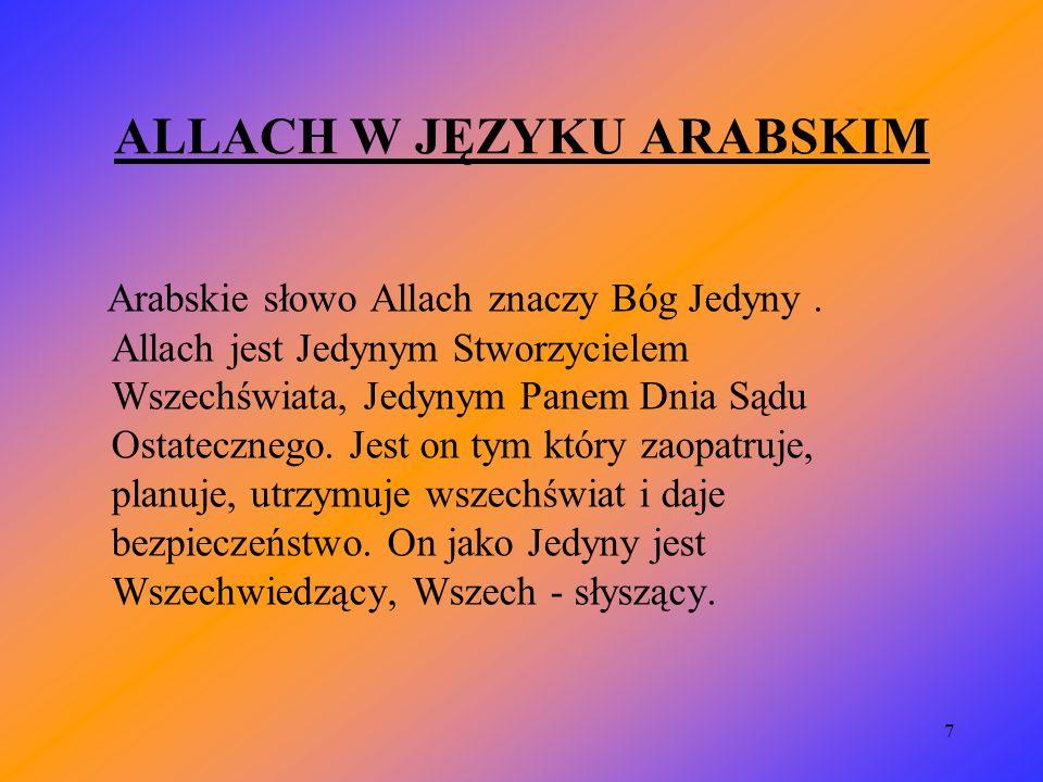 ALLACH W JĘZYKU ARABSKIM