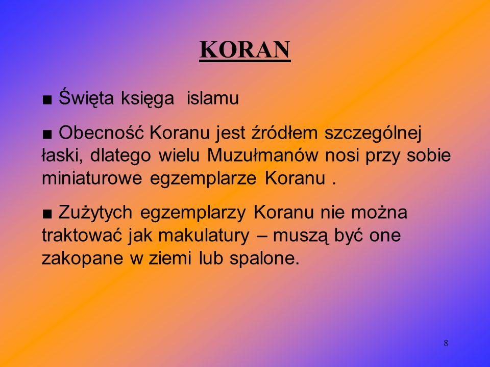 KORAN ■ Święta księga islamu
