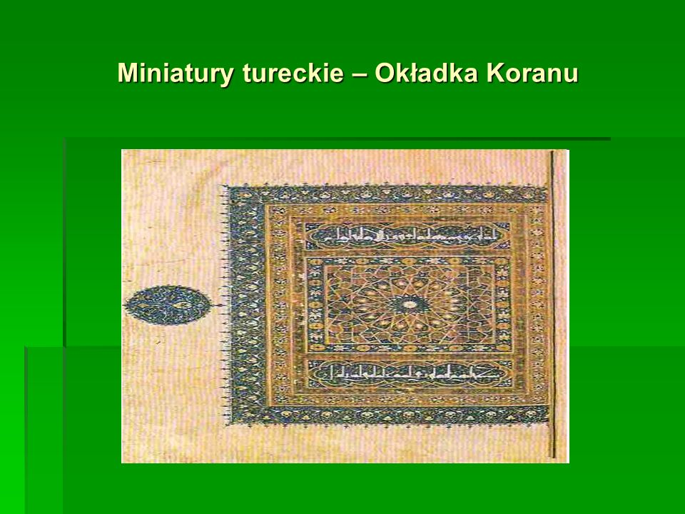 Miniatury tureckie – Okładka Koranu
