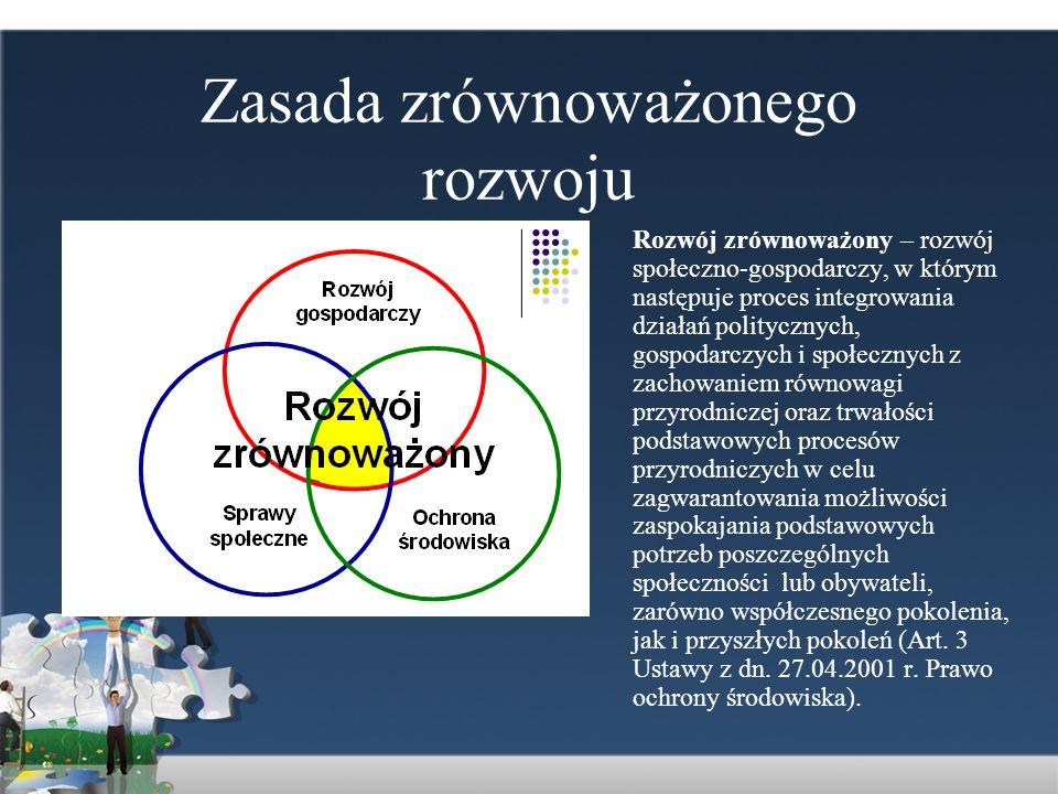 Zasada zrównoważonego rozwoju