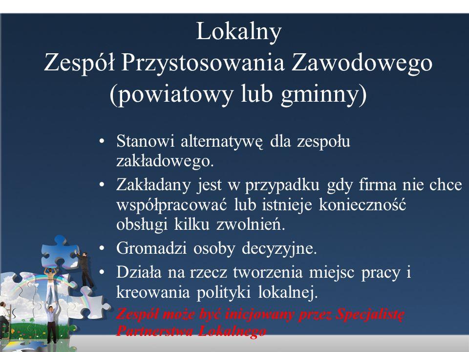 Lokalny Zespół Przystosowania Zawodowego (powiatowy lub gminny)