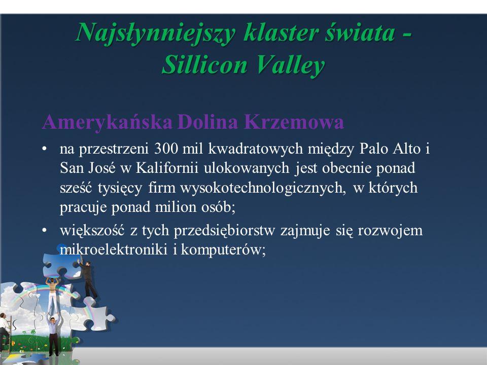 Najsłynniejszy klaster świata - Sillicon Valley