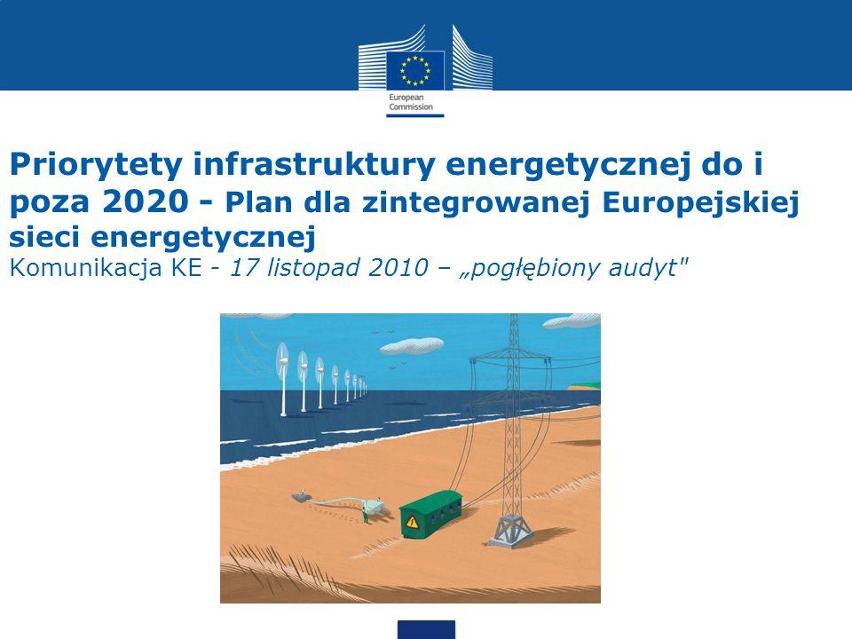 """Priorytety infrastruktury energetycznej do i poza 2020 - Plan dla zintegrowanej Europejskiej sieci energetycznej Komunikacja KE - 17 listopad 2010 – """"pogłębiony audyt"""
