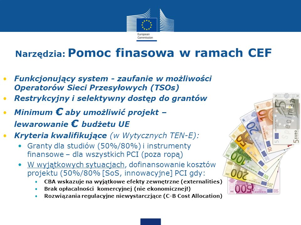Narzędzia: Pomoc finasowa w ramach CEF