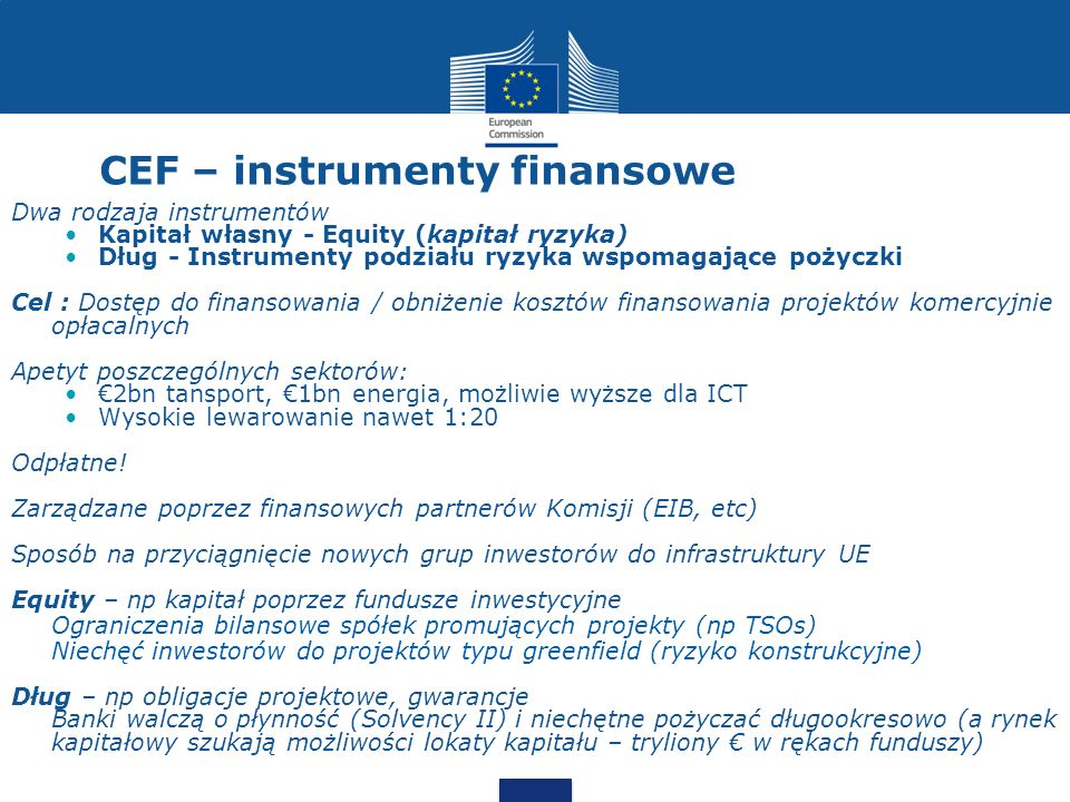 CEF – instrumenty finansowe