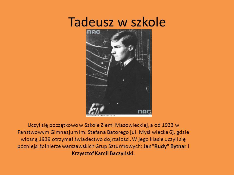 Tadeusz w szkole