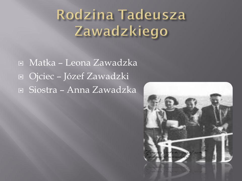 Rodzina Tadeusza Zawadzkiego