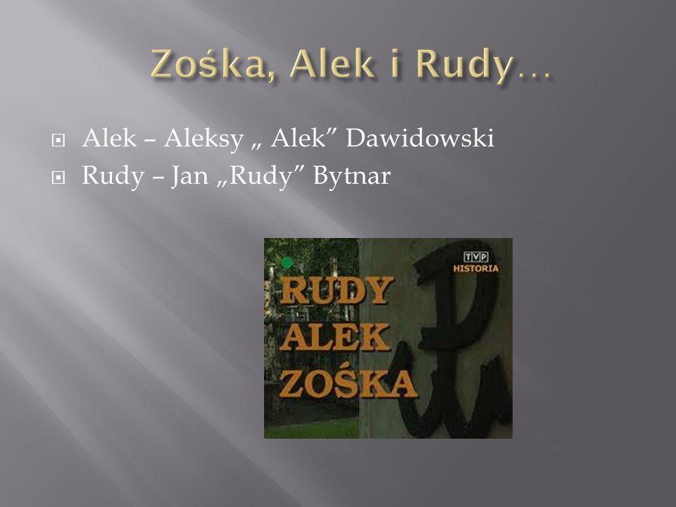 """Zośka, Alek i Rudy… Alek – Aleksy """" Alek Dawidowski"""