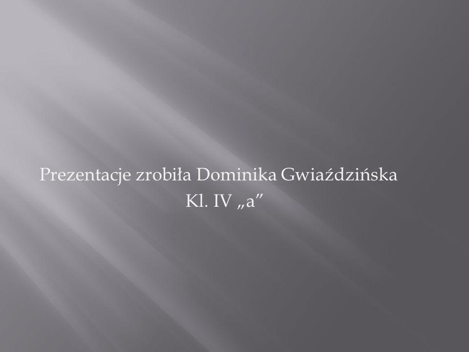 """Prezentacje zrobiła Dominika Gwiaździńska Kl. IV """"a"""