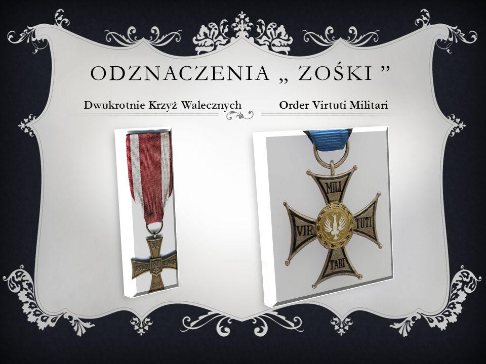 """Odznaczenia """" Zośki Dwukrotnie Krzyż Walecznych"""