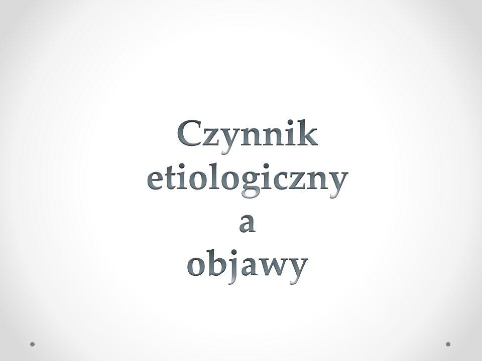 Czynnik etiologiczny a objawy