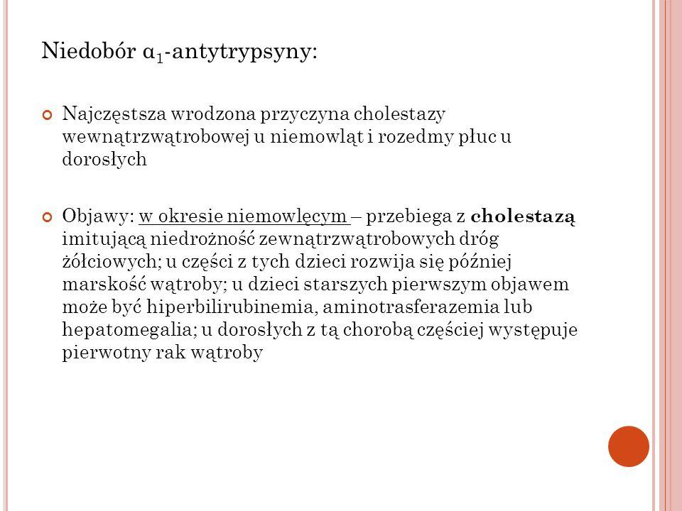 Niedobór α1-antytrypsyny: