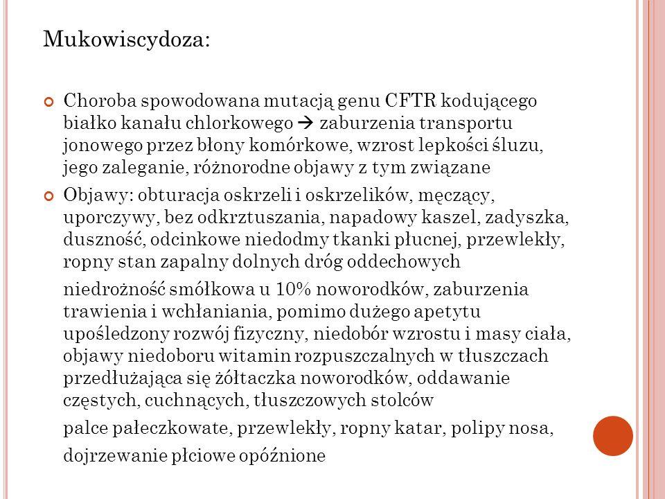 Mukowiscydoza: