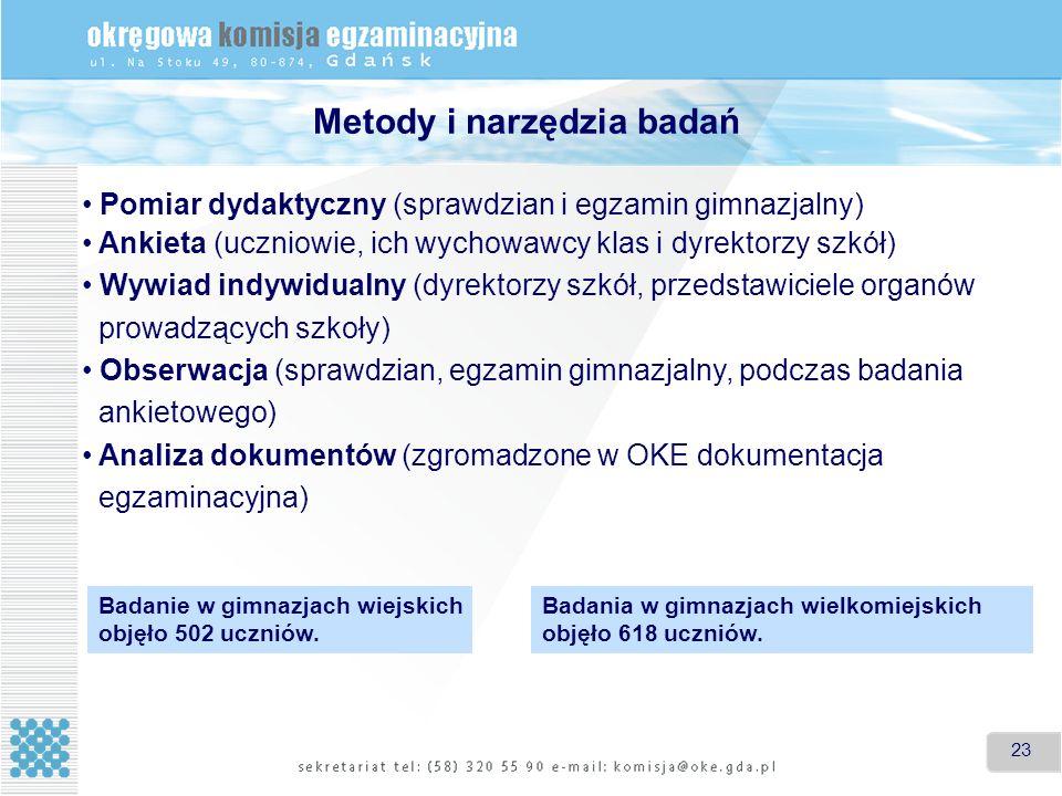 Metody i narzędzia badań