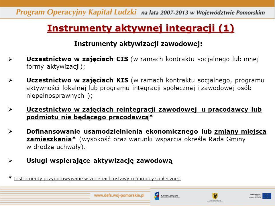 Instrumenty aktywnej integracji (1)