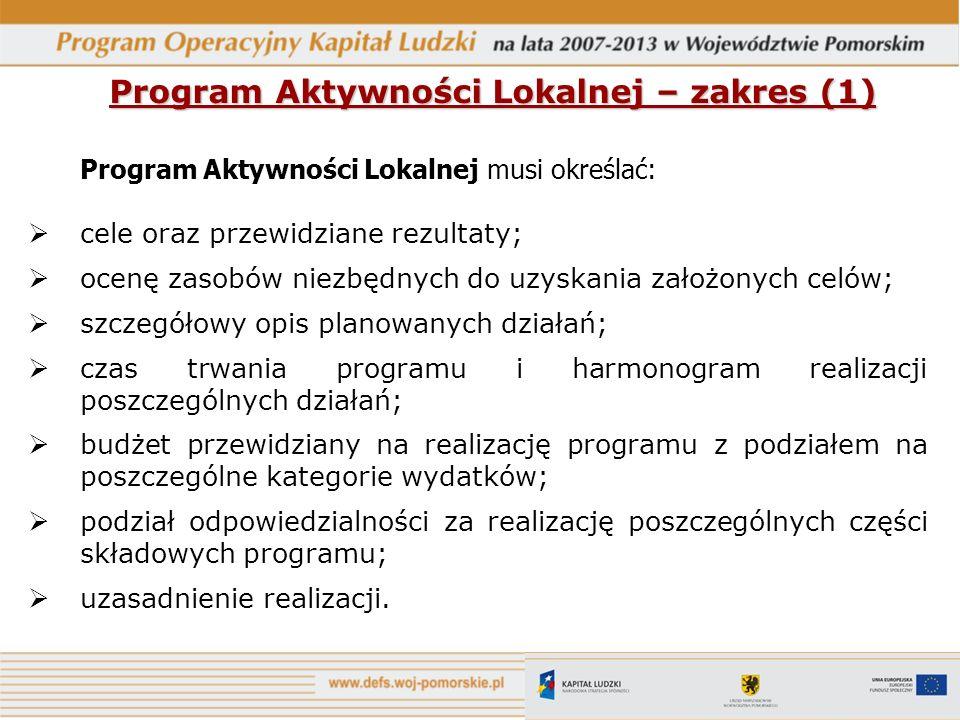 Program Aktywności Lokalnej – zakres (1)
