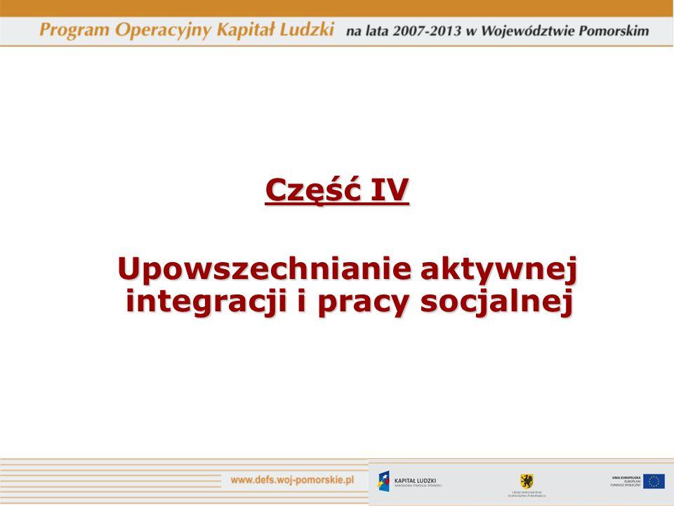 Upowszechnianie aktywnej integracji i pracy socjalnej