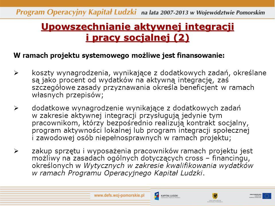 Upowszechnianie aktywnej integracji i pracy socjalnej (2)