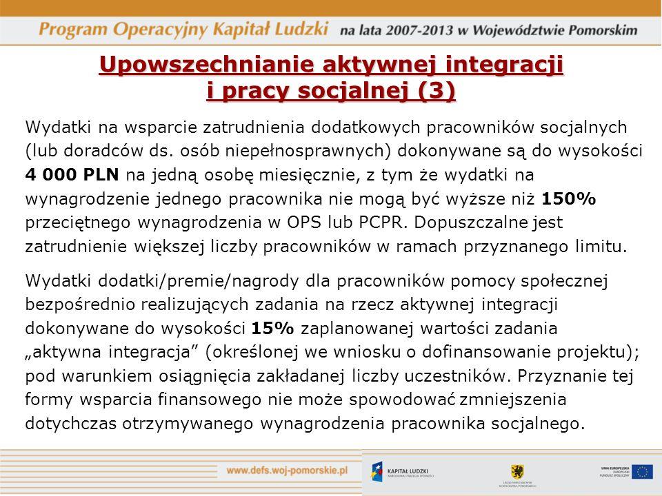 Upowszechnianie aktywnej integracji i pracy socjalnej (3)