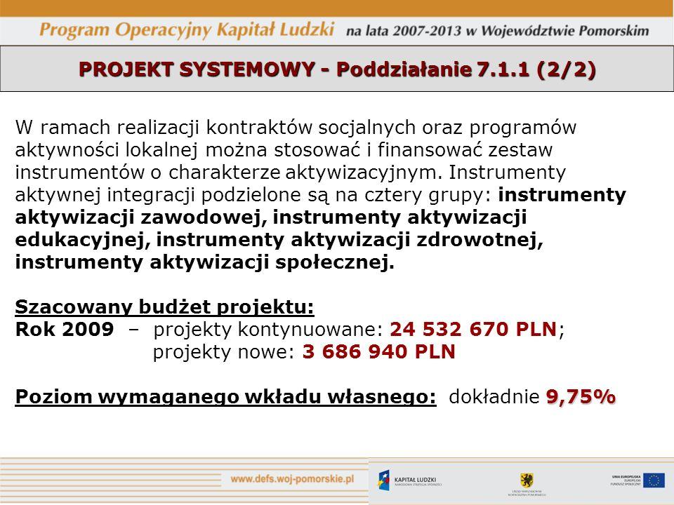 PROJEKT SYSTEMOWY - Poddziałanie 7.1.1 (2/2)