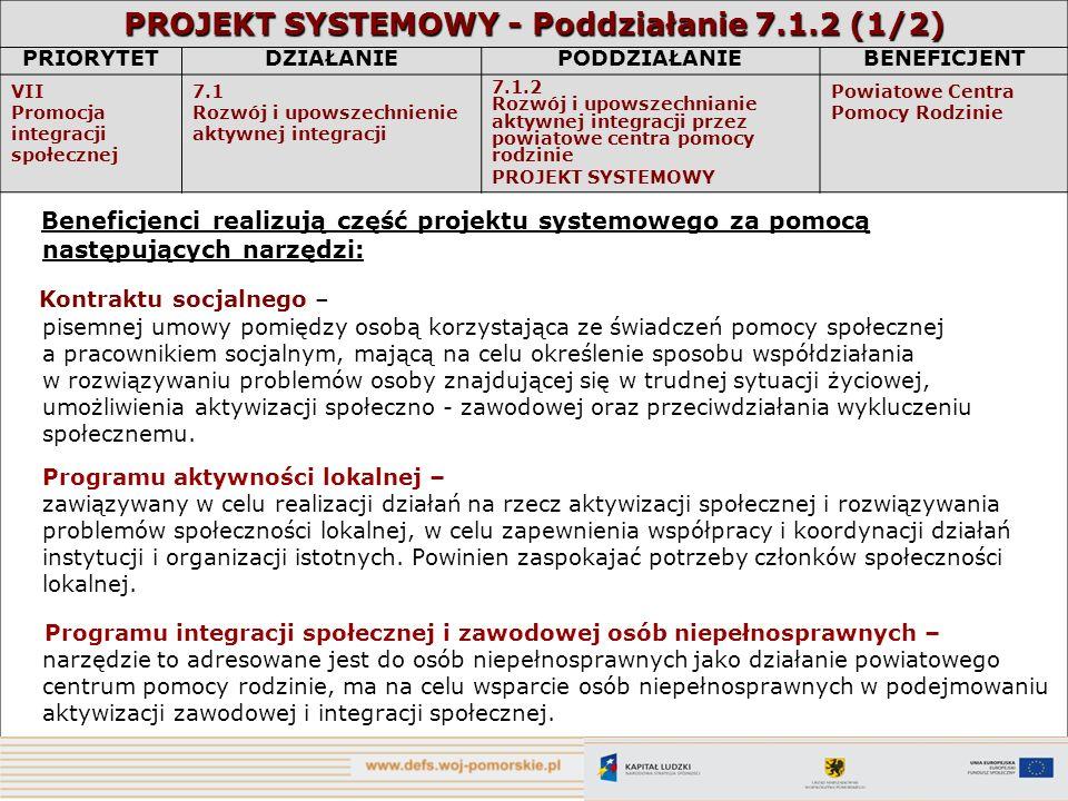 PROJEKT SYSTEMOWY - Poddziałanie 7.1.2 (1/2)