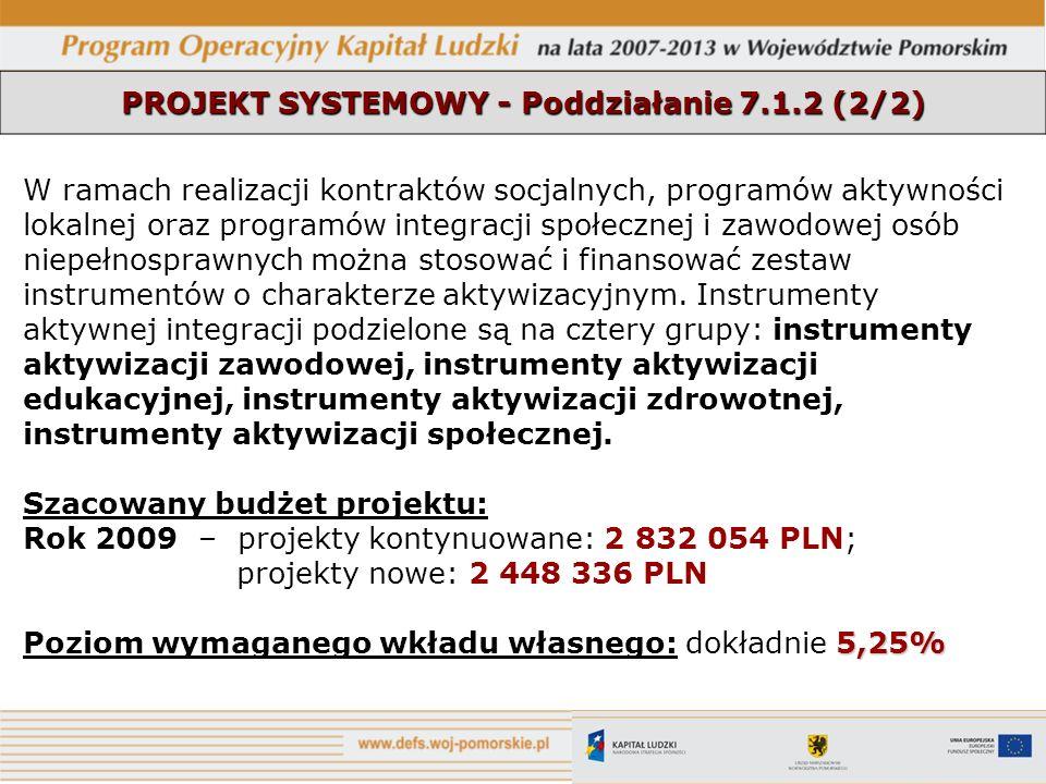 PROJEKT SYSTEMOWY - Poddziałanie 7.1.2 (2/2)