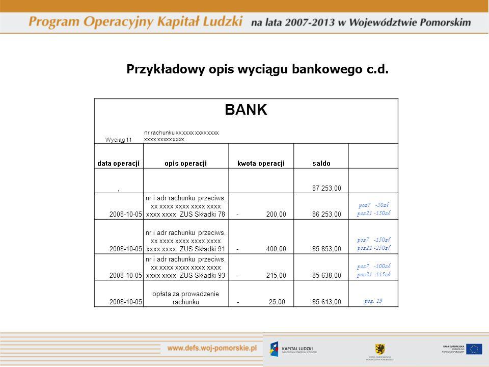 opłata za prowadzenie rachunku