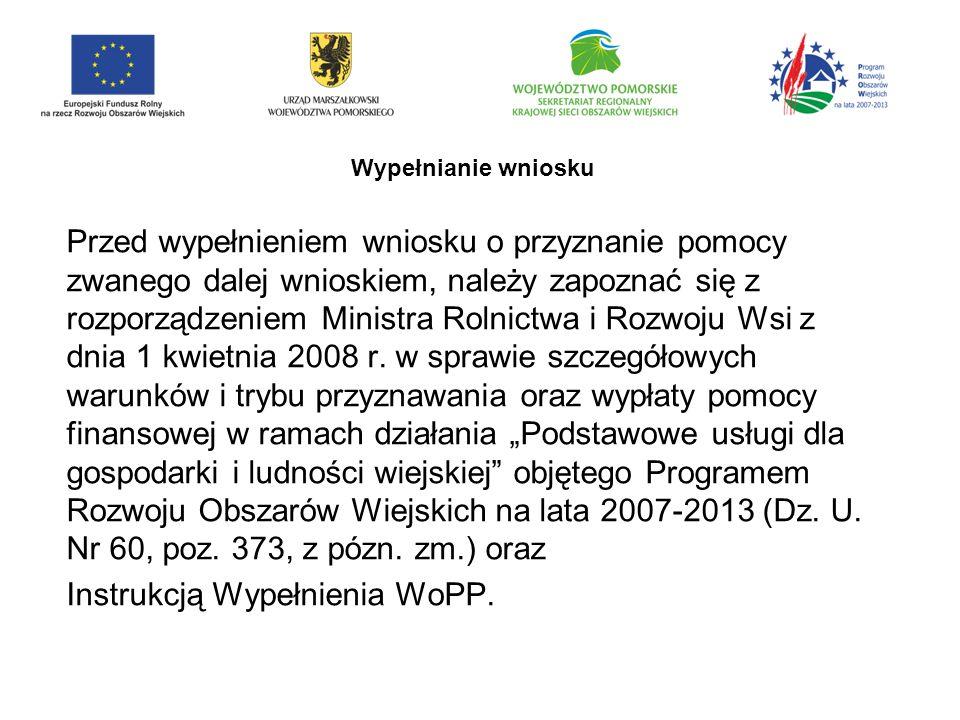 Instrukcją Wypełnienia WoPP.