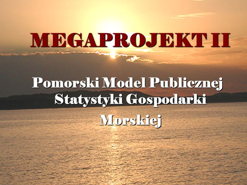 Pomorski Model Publicznej Statystyki Gospodarki Morskiej