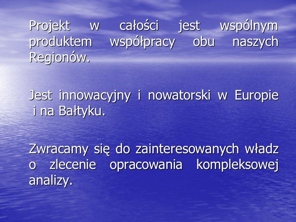 Projekt w całości jest wspólnym produktem współpracy obu naszych Regionów.