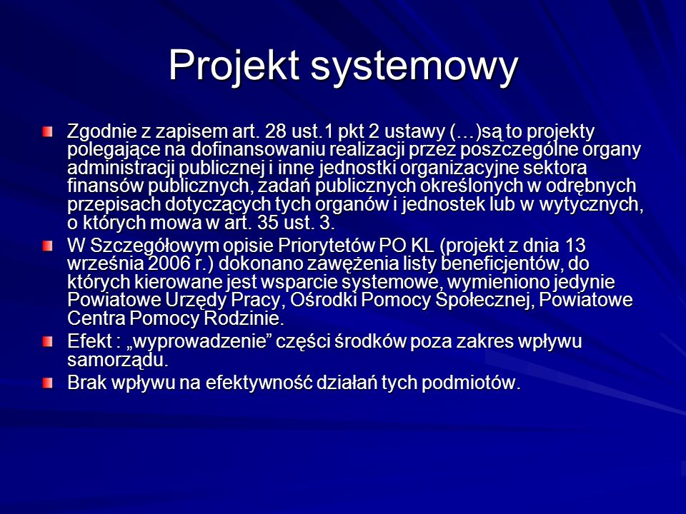 Projekt systemowy